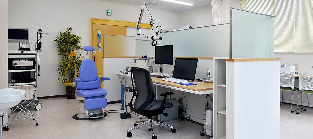 もり診療耳鼻咽喉科クリニック 耳鼻咽喉科の診察室